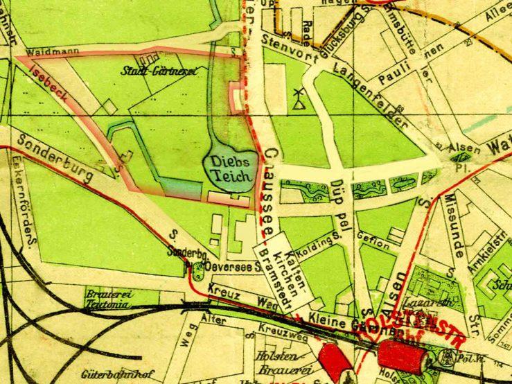 Kartenausschnitt 1913