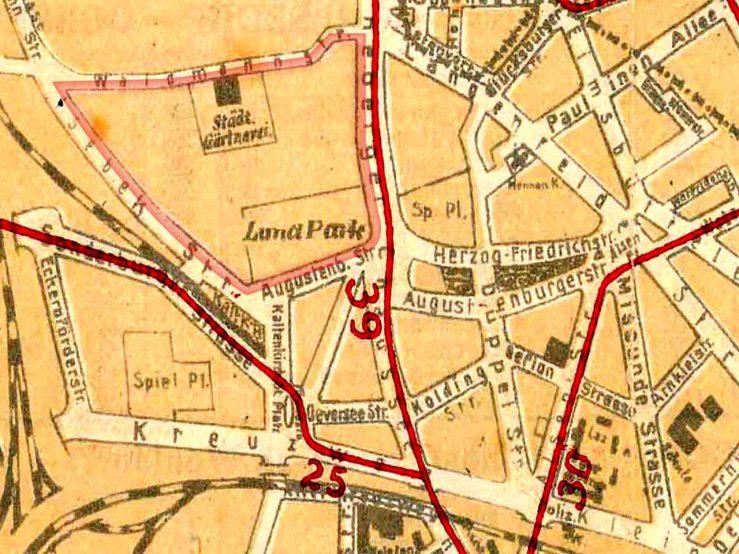 Kartenausschnitt 1924