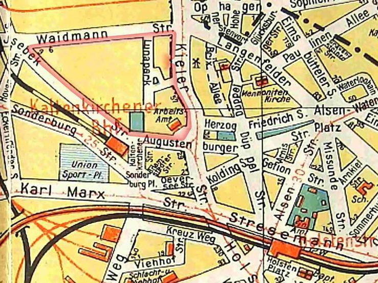 Kartenausschnitt 1930