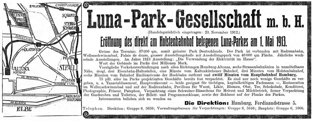 Anzeige Luna-Park-Gesellschaft